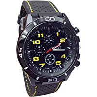 Clearance! Fashion Men's Military Watches Sport Wristwatch Silicone Rubber Band Quartz Analog Watches
