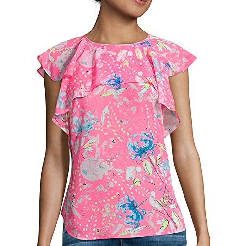 I Heart Ronson Flutter-Sleeve Top Size XS, used for sale  Delivered anywhere in USA