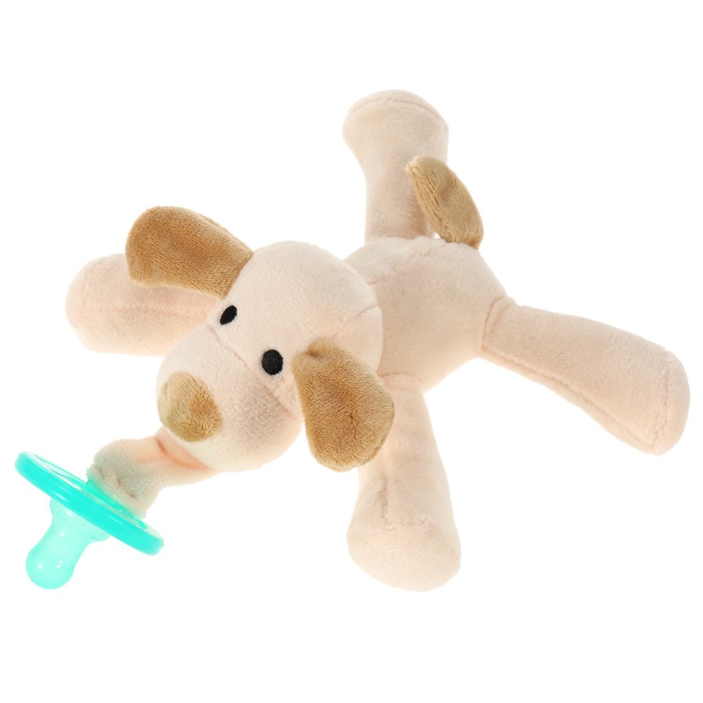 Upluck Infant Silicone Pacifier - Brown Dog Puppy Soft Plush Doll Soother Toys Baby Newborn