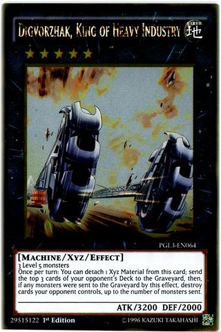 Yu-Gi-Oh! - Digvorzhak, King of Heavy Industry (PGL3-EN064) - Premium Gold: Infinite Gold - 1st Edition - Gold Rare
