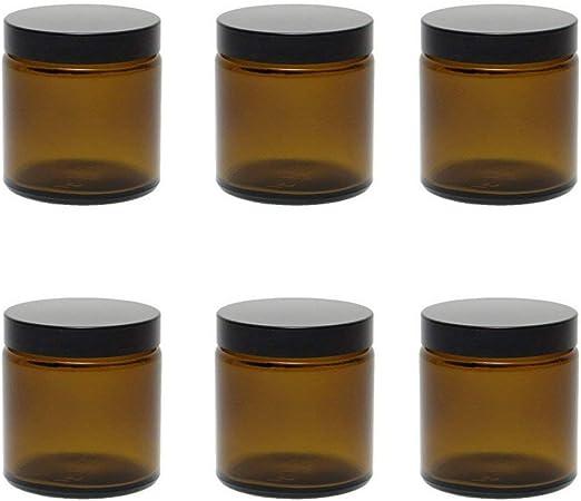 6 Glastiegel 120 Ml Salbentiegel Cremetiegel Aus Braunglas Inkl Etiketten Küche Haushalt