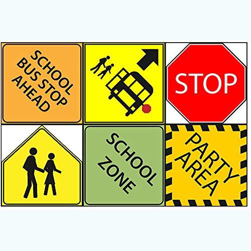 Crossing Sign School - School Bus Party Sign 6