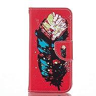 Nancen Coque pour Samsung Galaxy Core Prime SM-G360 SM-G361 (4.5 pouces), Série Mignon Étui Housse en Cuir PU Bookstyle Flip Cover Wallet Portefeuille Coque de protection Intérieure Souple TPU Silicone Case [Plume]