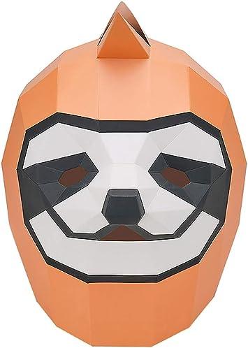 Máscara de Halloween, Slacker creativa Sombrero DIY divertido COS Animal molde de papel hecho a mano