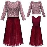 Meaneor Women's Tulle Bridesmaid Dress A Line Knee Length Tutu Prom Skirt Dress, Burgandy/M