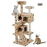 PetPremium Cat Kitten Tree Tower Condo | Indoor Bed Perch Modern Sturdy | Scratcher Scratching Post Furniture Play Pet Home House | 52