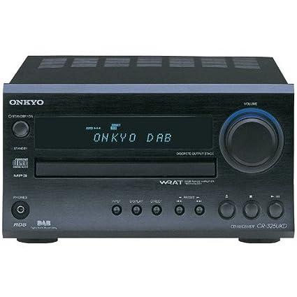 Onkyo CR-325 Wide Range Amplifier Technology (WRAT) FM/AM CD Receiver