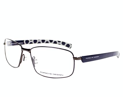 cd9897a9bf1e Amazon.com  Porsche Design eyeglasses P8199 D Metal Dark Gun - Matt Blue   Clothing