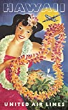 United Airlines - Hawaii (artist: Feher) USA c. 1950 - Vintage Advertisement (24x36 SIGNED Print Master Giclee Print w/ Certificate of Authenticity - Wall Decor Travel Poster)