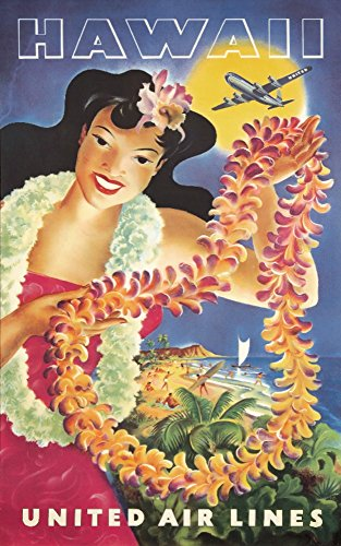 United Airlines - Hawaii (artist: Feher) USA c. 1950 - Vintage Advertisement (24x36 SIGNED Print Master Giclee Print w/ Certificate of Authenticity - Wall Decor Travel Poster) by Lantern Press