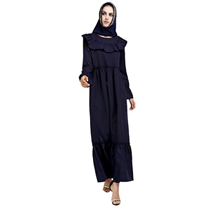 Women Embroidery Floral Dress Muslim Party Gown Maxi Tunic Long Robe Dubia Abaya