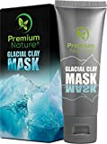 Facial Mask For Acne Scars - Glacial Clay Face Blackhead Mask – 100% Natural Facemask for Dark Spots Wrinkles & Acne Scar Treatment Deep Pore & Black Head Eliminator Minimizer Remover Facial Cleanser Wash Masks Detox & Brighten