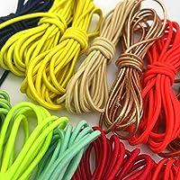 5 Metri 2mm colorato Elastico Rotondo Elastico Rotondo Elastico Tondo Elastico Linea Elastica Accessori per Il Cucito Fai da Te
