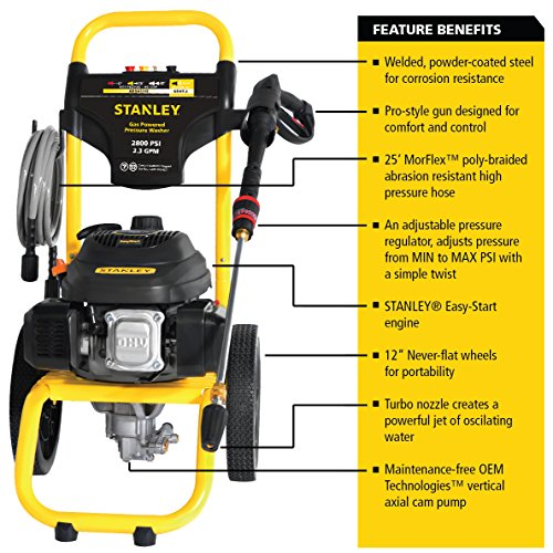 STANLEY SXPW2823 2800 PSI @ 2.3 GPM Gas Pressure Washer Powered by STANLEY (50-State) by Stanley (Image #6)