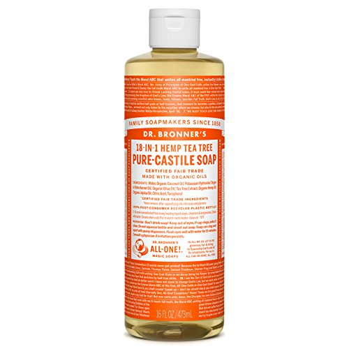 Dr. Bronner's Organic Pure Castile Liquid Soap, Tea Tree Oil, 16 oz