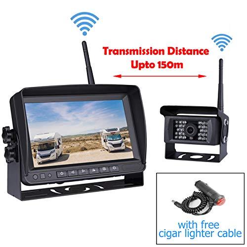 Lcd Backup (Car Digital Wireless Backup System for Truck RV Camper Vans Trailer, 7