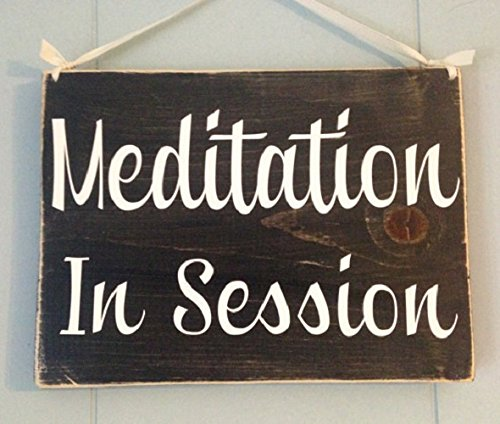 10x8 meditation in session choose color custom rustic shabby chic wood do not disturb