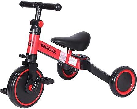 smzzz Bicicleta de Equilibrio para bebé Pedal, Caminante para niños 10 Meses -36 Meses Juguetes para 1 año de Edad pedaleo Infantil 4 Ruedas Niño Primer cumpleaños de Primer año Regalo: Amazon.es: