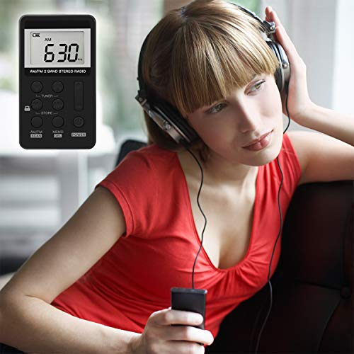 Upgrade Portable Radio, Digital Tuning AM/FM Portable Stereo Personal Radio with Earphone for Walk/Jogging/Gym/Camping by ANTOGOO (Image #2)