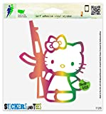hello kitty gun car decal - Hello Kitty Machine Gun Vinyl Car Bumper Window Sticker 5
