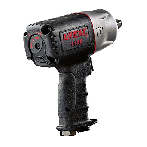 AIRCAT 1150 Killer Torque 1/2-Inch Impact Wrench, Black, Medium (Snap On 1 2 Impact Gun Specs)