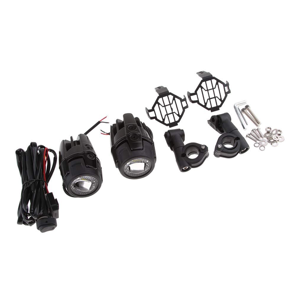 Sharplace BMW R1200GS用 2個 LED補助ランプ フォグランプランプ プロテクターカバー スポット 耐震性 防水 B07P7DBD5Q