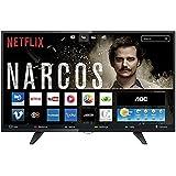 "Smart TV LED 39"" HD com Wi-Fi 1 USB 2 HDMI Digital Controle com Botão Netflix, AOC, LE39S5970, Preto"