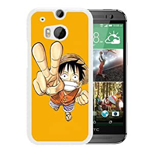 Fashion Designed One Piece 49 White HTC ONE M8 Phone Case