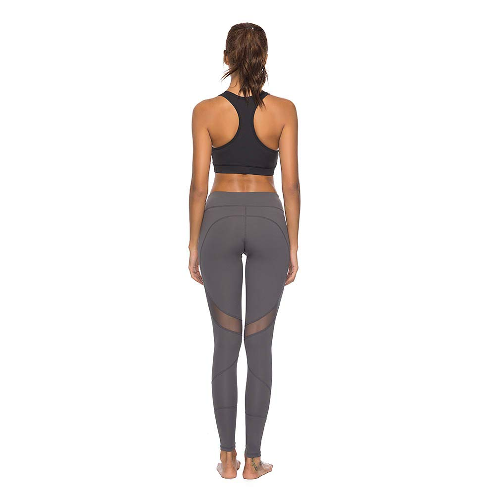 0847f1ed72 ... Mint Lilac Womens High Waist Workout Yoga Pants Athletic Tummy Control  Leggings