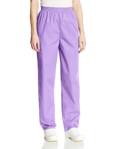 Cherokee Women's Workwear Scrubs Pull-On Cargo Pant, Orchid, (Discount Medical Scrubs)