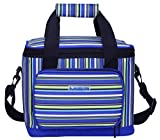 16 can cooler lunch box - MIER 16 Can Large Insulated Lunch Bag for Women and Men, Soft Leakproof Liner, Blue