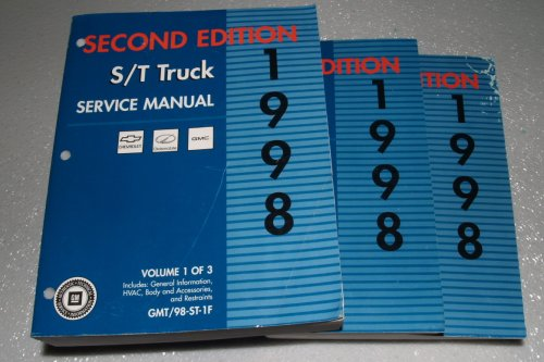 Oldsmobile Bravada Service Shop Manual (1998 GM S/T Truck Service Manuals (3 Volume Set))