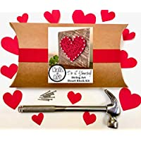 String art kit Craft kit. Do it yourself heart art project for adults, tweens and kids 9-12. By Nail it Art. Perfect Valentines'Day gift for craft lovers!