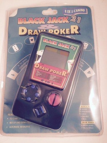 2 In 1 Casino - Black Jack 21 - Draw Poker Electronic Handheld game