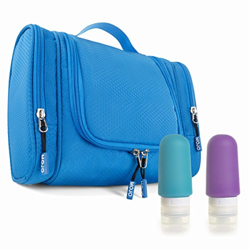 81f24746aa51 Hanging Travel Toiletry Bag + Silicone Bottles Set - Premium Quality Travel  Organizer for Men