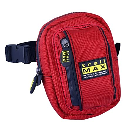 Glacier Blue 1680-denier Ripstop Nylon Outer Shell has a PVC Water Resistant Coating in Black Red TrailMax 500 Series Insulated /& Padded Front Pocket Saddle Bag for Trail Riding