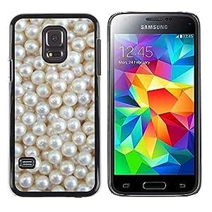 iKiki Tech / Estuche rígido - White Rich Pearl Jewel Gem - Samsung Galaxy S5 Mini, SM-G800, NOT S5 REGULAR!