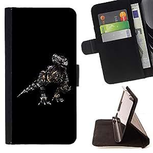 BullDog Case - FOR/HTC Desire 820 / - / Robosaurus /- Monedero de cuero de la PU Llevar cubierta de la caja con el ID Credit Card Slots Flip funda de cuer