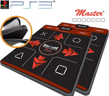 (2 x Dance Dance Revolution Ultra Sensitive Master Super Deluxe Dance Pad for PS3)