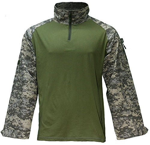 Mafoose Tactical Military Camo Combat Paintball Shirt 1/4 Zip ACU (2xl Paintball)