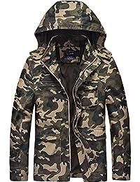 """<span class=""""a-offscreen"""">[Sponsored]</span>Men's Cotton Lightweight Jacket Hoodie Windbreaker Trench Coat"""
