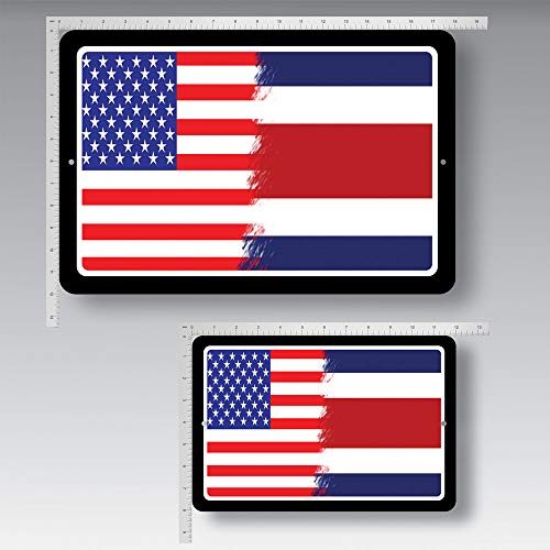 (Custom Tshirts and Hats World Flags USA - Costa Rica Tin Sign Bar Cafe Dining Room Billiard House Hotel Club WallDecor #5352)