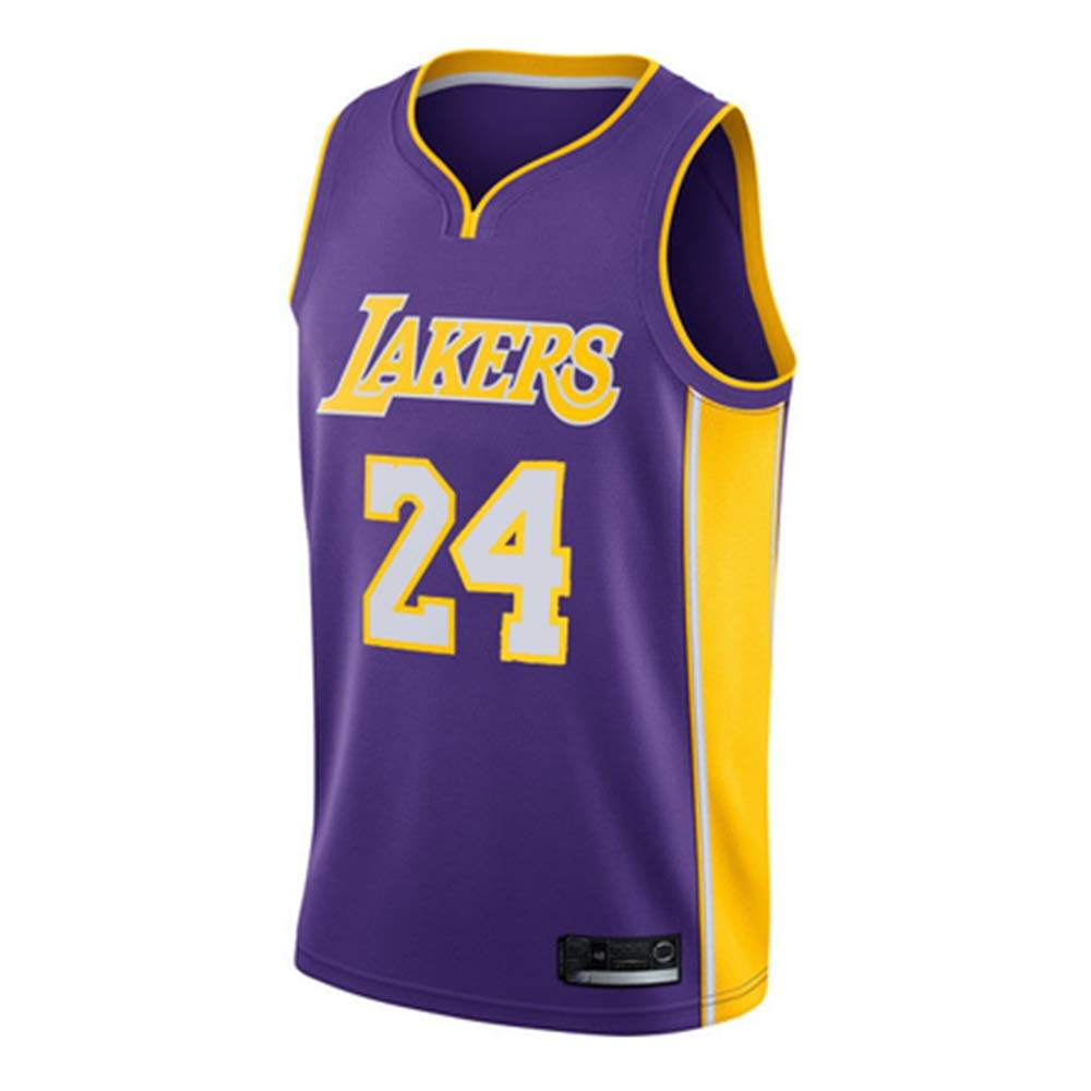 RTMJUNMA Uomo Donna NBA Lakers 24# Kobe Bryant Jersey Maglia da Basket Traspirante Canotte da Basket