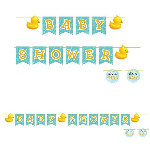 Creative Converting Rubber Ducky Baby Shower Banner (Two-Pack)