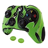 Cheap Pandaren Soft Silicone Thicker Skin Cover for Xbox One Controller Set (Camouflage Green skin X 1 + Thumb Grip X 2)
