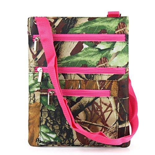 Pink Camouflage Messenger Bag - 3