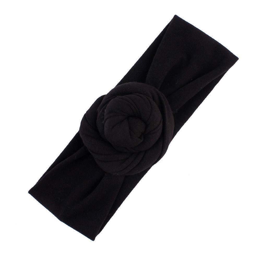 NUWFOR Cute Kids Girls Baby Toddler Turban Knot Headband Hair Band Accessories Headwear Black