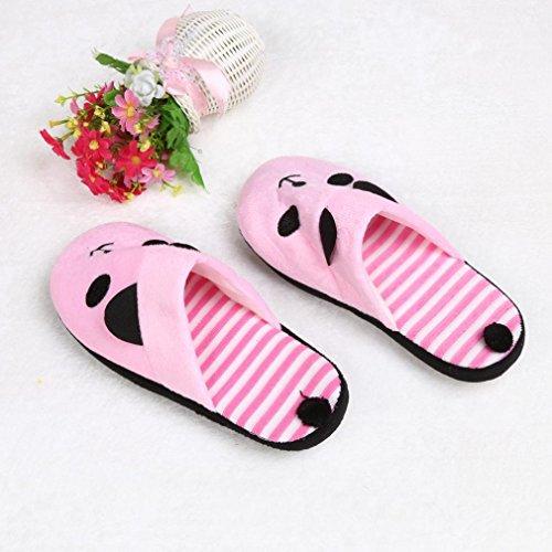 Lovely Tamaño para hogar el Panda 36 Zapatillas Suaves Toamen de Rayas B Cartoon 40 U6Zxwd
