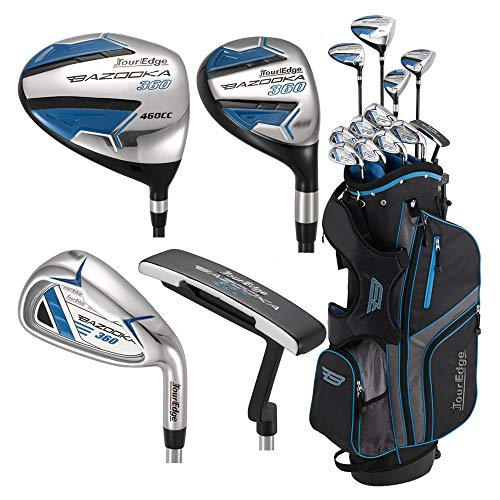 Tour Edge Unisex B3SRGU11.B Bazooka 360 Teen Golf Set Right Hand, Black Blue