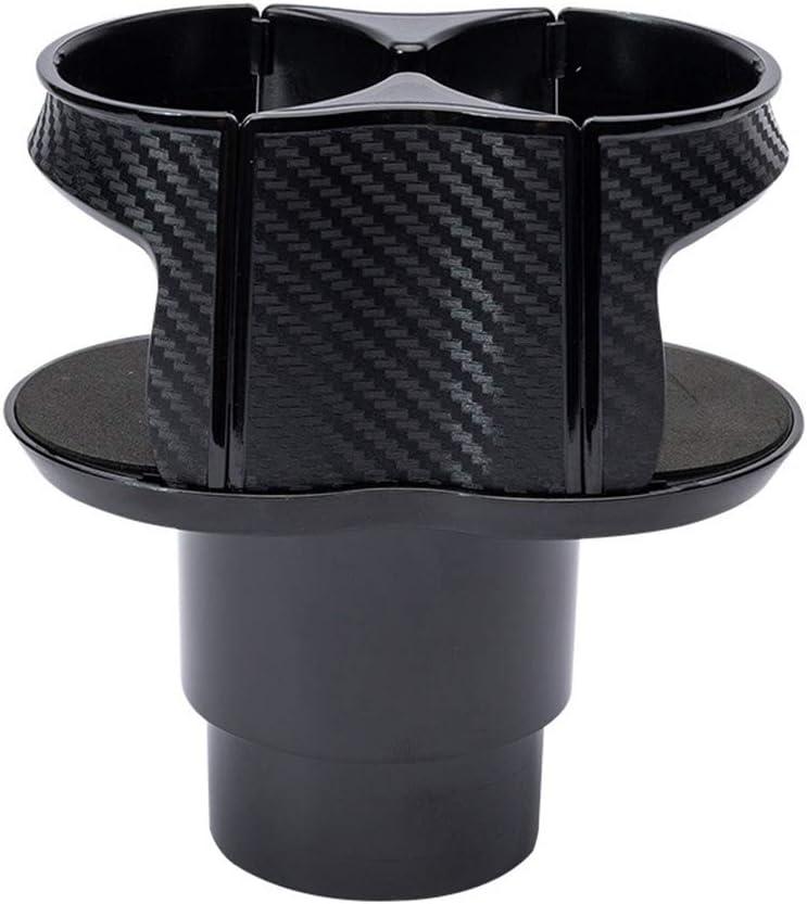 VOSAREA Car Cup Holder, Dual Water Cup Holder Organizer, Drinks Beverage Bottle Stand Storage Organizer (Black)